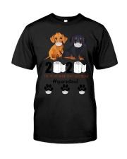 Dachshund Quarantined Classic T-Shirt front