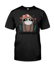 Quarantined Sloth Classic T-Shirt front