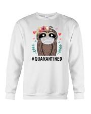 Quarantined Sloth Crewneck Sweatshirt thumbnail