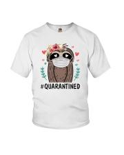 Quarantined Sloth Youth T-Shirt thumbnail