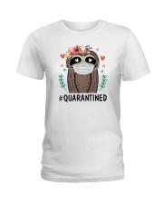 Quarantined Sloth Ladies T-Shirt thumbnail