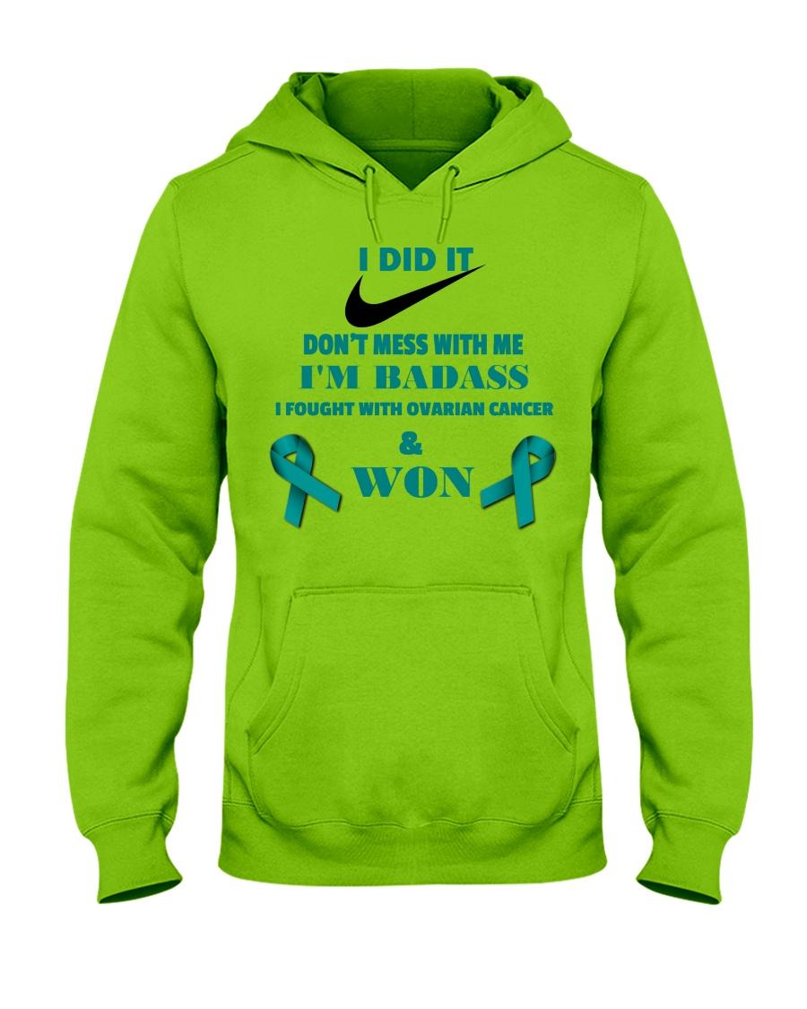 I Beat Ovarian Cancer Hooded Sweatshirt