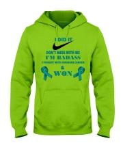 I Beat Ovarian Cancer Hooded Sweatshirt front