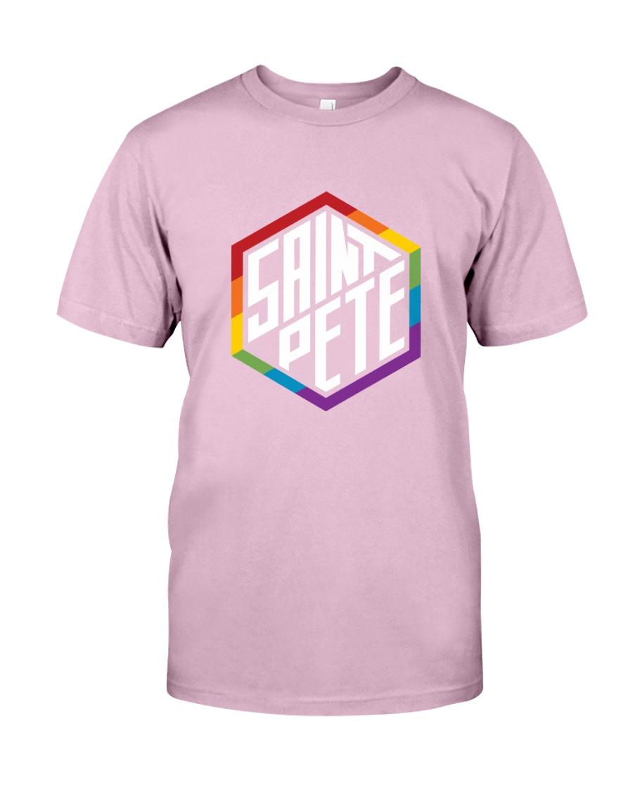 Saint Pete Hexagon - Rainbow Classic T-Shirt