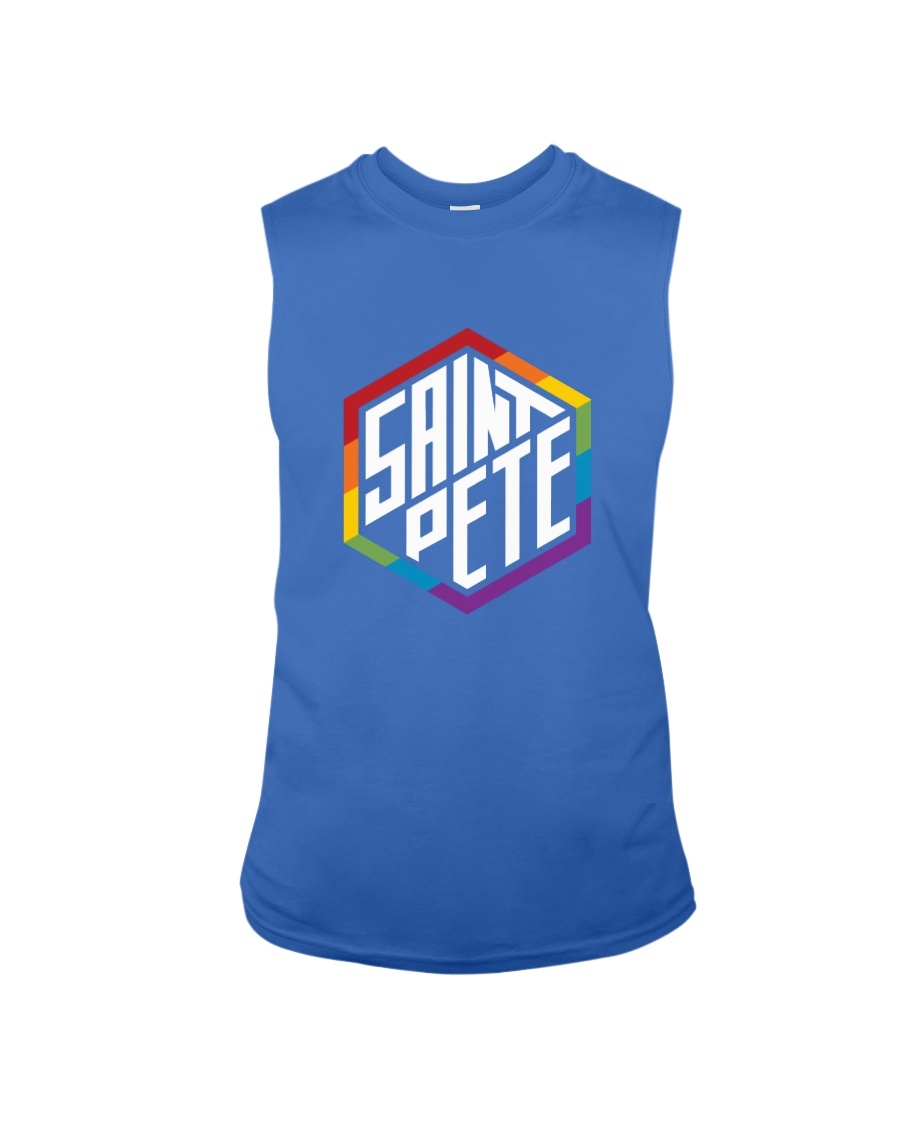 Saint Pete Hexagon - Rainbow Sleeveless Tee
