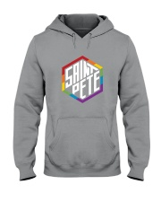 Saint Pete Hexagon - Rainbow Hooded Sweatshirt thumbnail