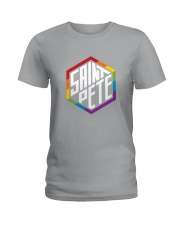 Saint Pete Hexagon - Rainbow Ladies T-Shirt thumbnail