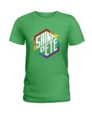 Saint Pete Hexagon - Rainbow Ladies T-Shirt front