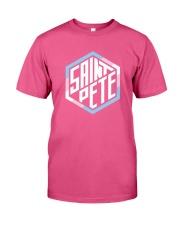 Saint Pete Hexagon - Trans Premium Fit Mens Tee front