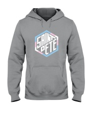 Saint Pete Hexagon - Trans Hooded Sweatshirt thumbnail