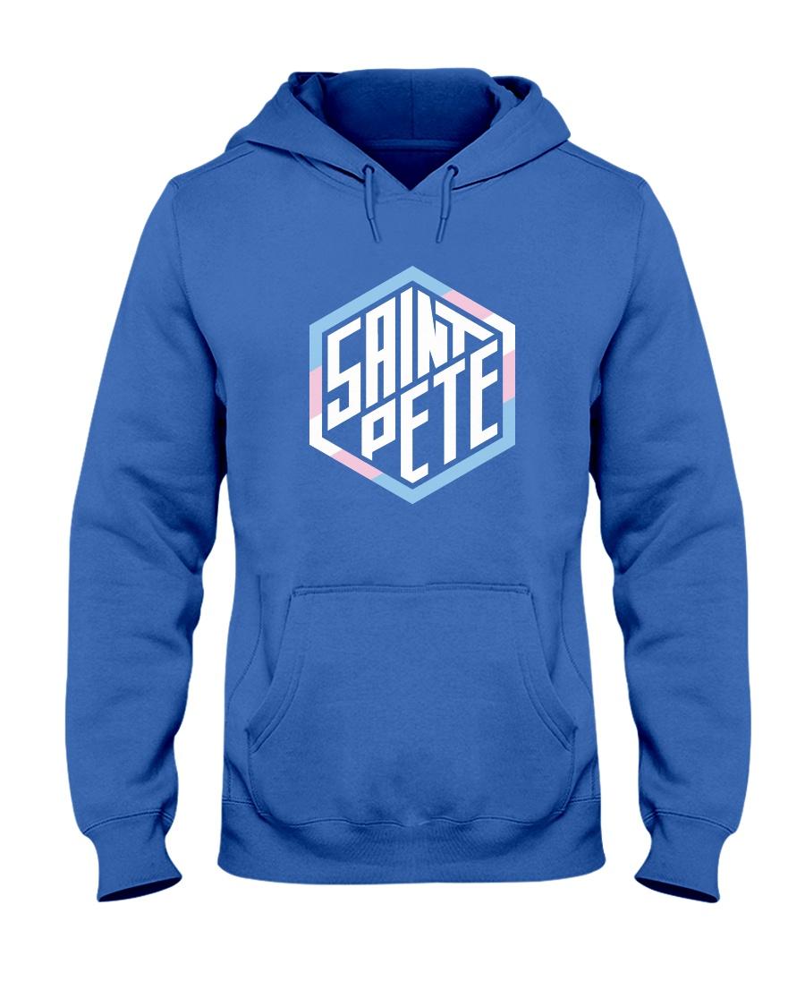 Saint Pete Hexagon - Trans Hooded Sweatshirt