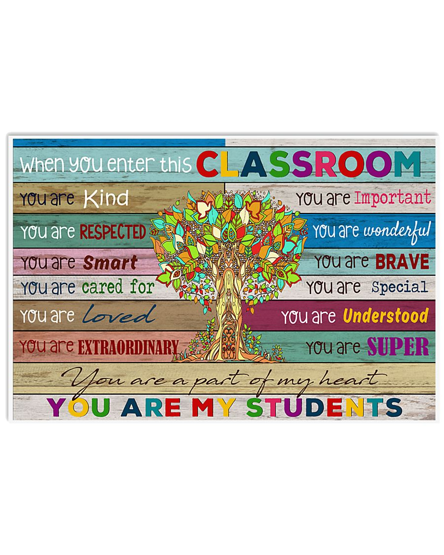 You are my students 17x11 Poster