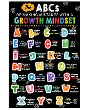 Growth Mindset 16x24 Poster front