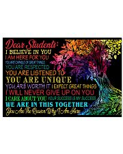 Dear students 24x16 Poster front
