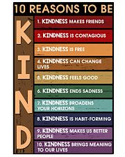 10 reasons to be kind 11x17 Poster front