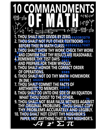 10 commandments of Math