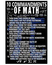 10 commandments of Math 16x24 Poster front