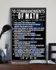 10 commandments of Math 16x24 Poster lifestyle-poster-2