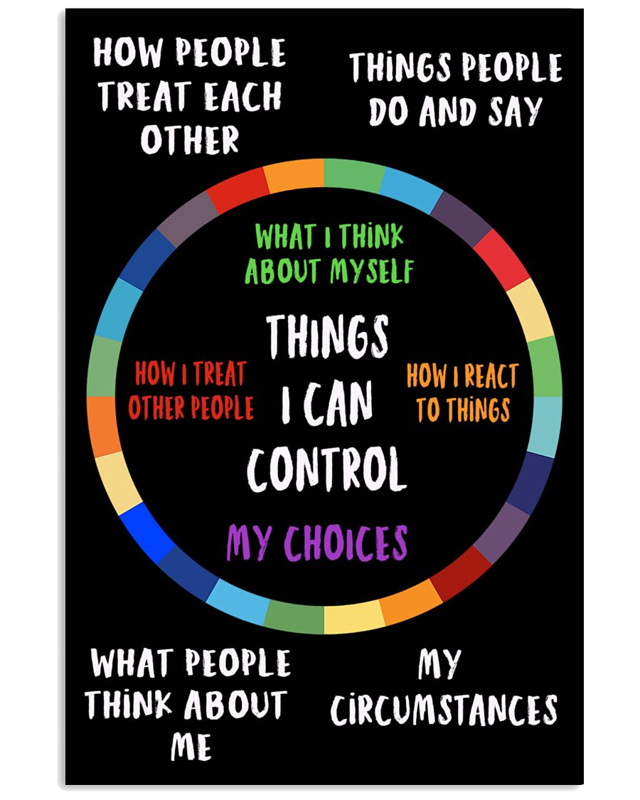 Things I can control 11x17 Poster