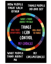 Things I can control 11x17 Poster front