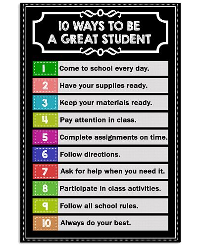 10 ways to be a great student