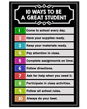 10 ways to be a great student 16x24 Poster front