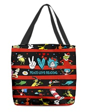 Peace Love Reading All-over Tote thumbnail