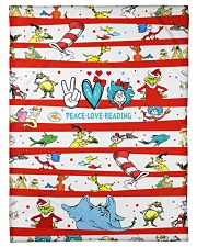 "Peace Love Reading Small Fleece Blanket - 30"" x 40"" thumbnail"
