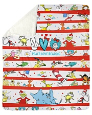 "Peace Love Reading Sherpa Fleece Blanket - 50"" x 60"" thumbnail"