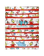"""Peace Love Reading Quilt 40""""x50"""" - Baby thumbnail"""