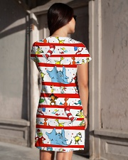 Peace Love Reading All-over Dress aos-dress-back-lifestyle-1