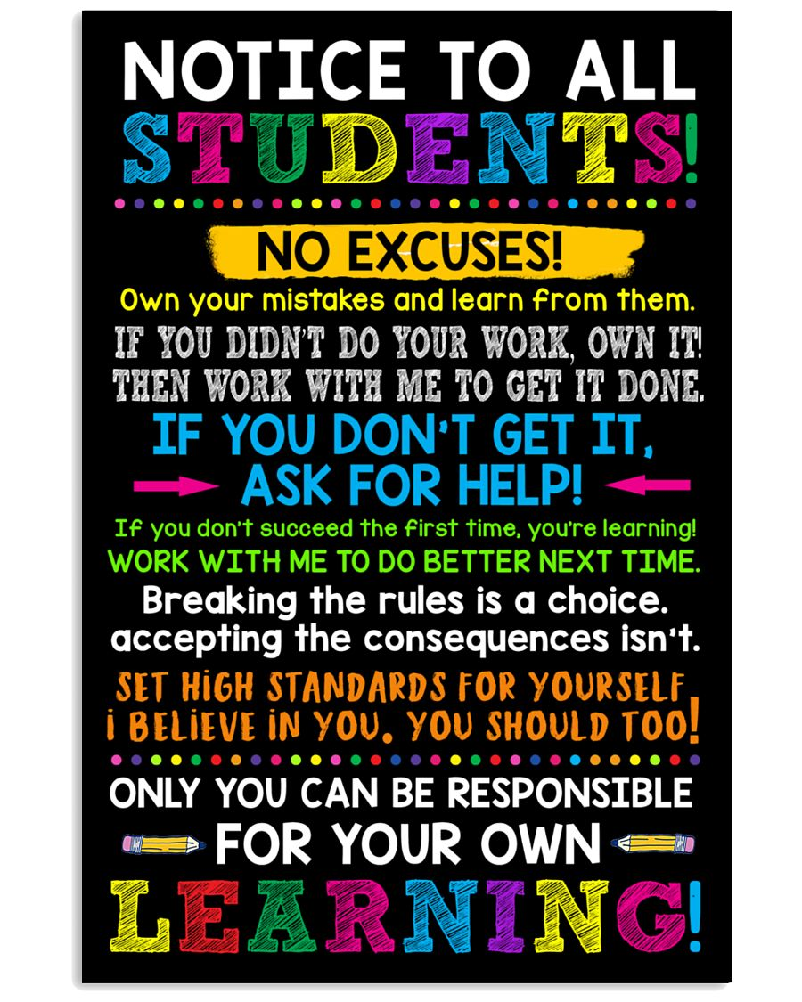 Notice to all student 11x17 Poster