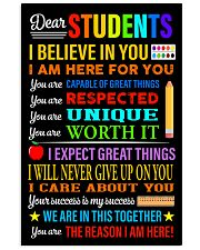 Dear students 16x24 Poster front