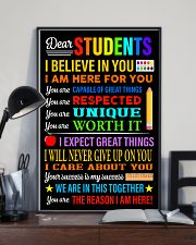 Dear students 16x24 Poster lifestyle-poster-2