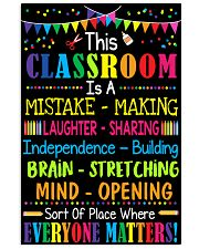 Great poster For Classroom 11x17 Poster front