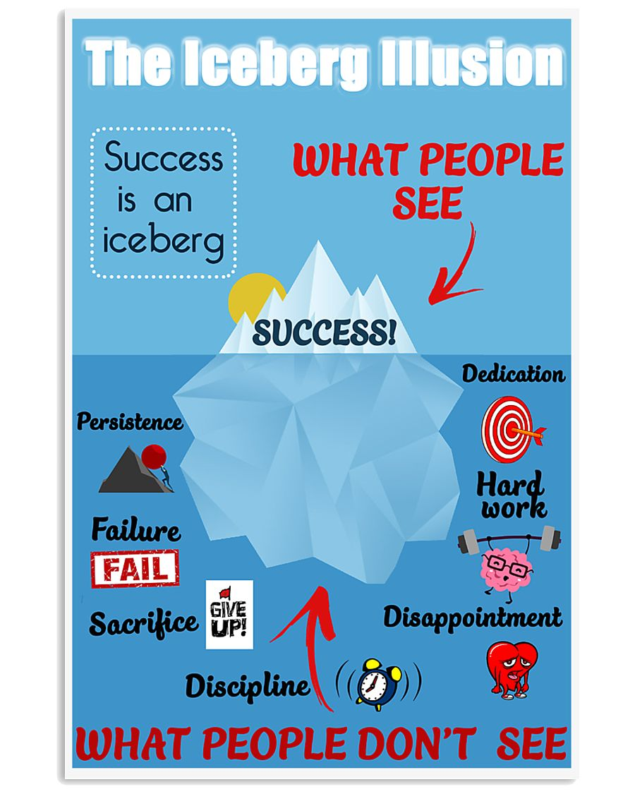 Success is an iceberg 16x24 Poster