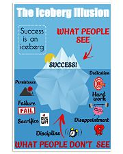 Success is an iceberg 16x24 Poster front