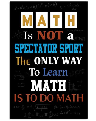 Math is not a spectator sport