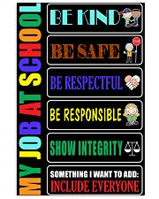 My job at school 11x17 Poster front
