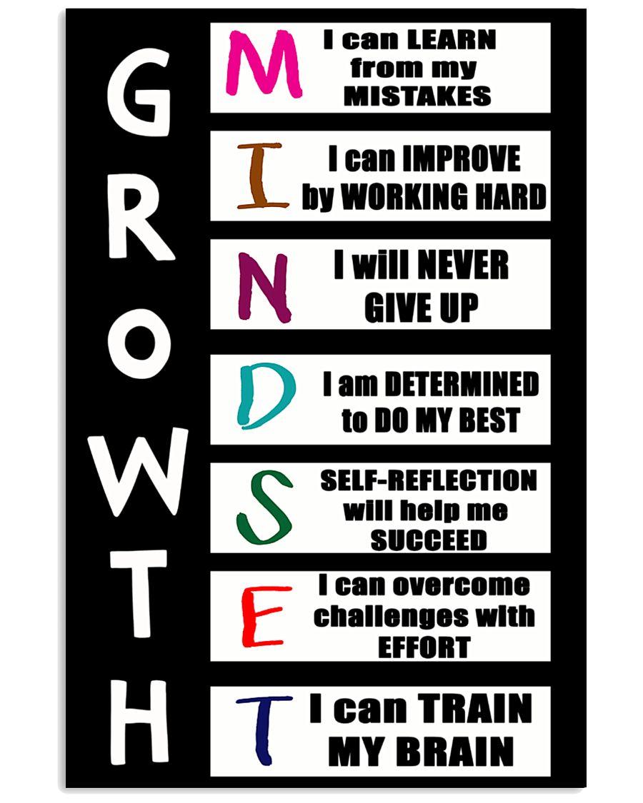 Growth Mindset 16x24 Poster showcase
