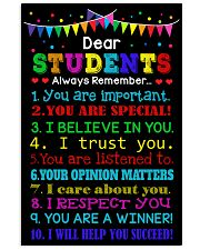 Dear student 11x17 Poster front