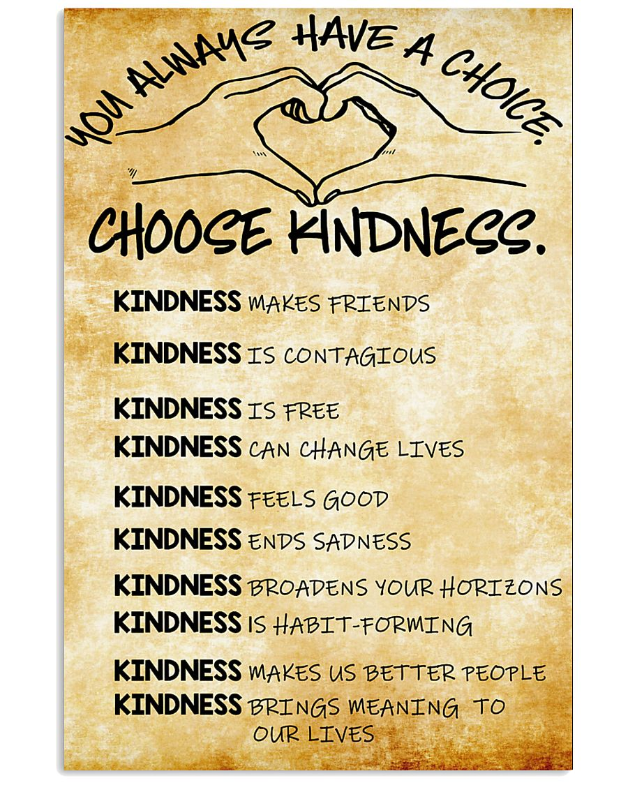 Choose Kindness 11x17 Poster