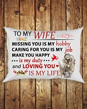 Great gift for your wife Rectangular Pillowcase aos-pillow-rectangle-front-lifestyle-2