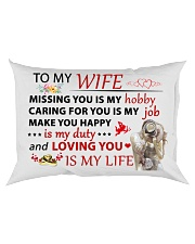 Great gift for your wife Rectangular Pillowcase back