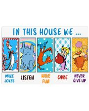 In this house we 17x11 Poster front