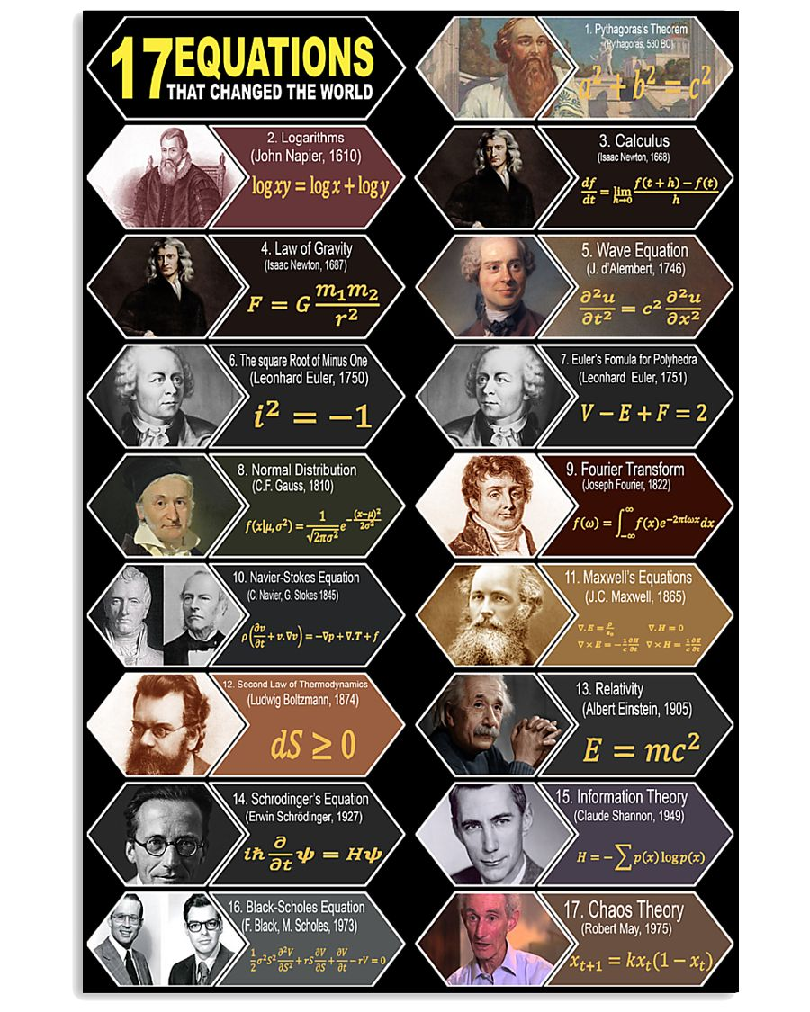 17 equations that changed the world 11x17 Poster