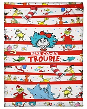 """Here comes trouble Small Fleece Blanket - 30"""" x 40"""" thumbnail"""