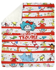 "Here comes trouble Sherpa Fleece Blanket - 50"" x 60"" thumbnail"