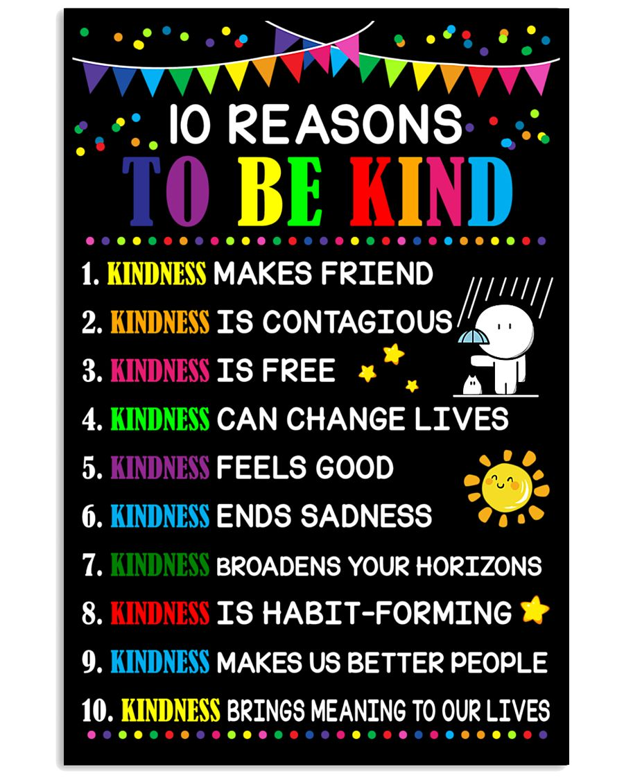 10 Reasons to be kind 11x17 Poster