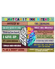 What can i think instead 17x11 Poster front